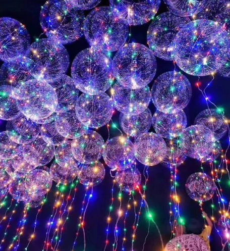 Led balloons for a night time party