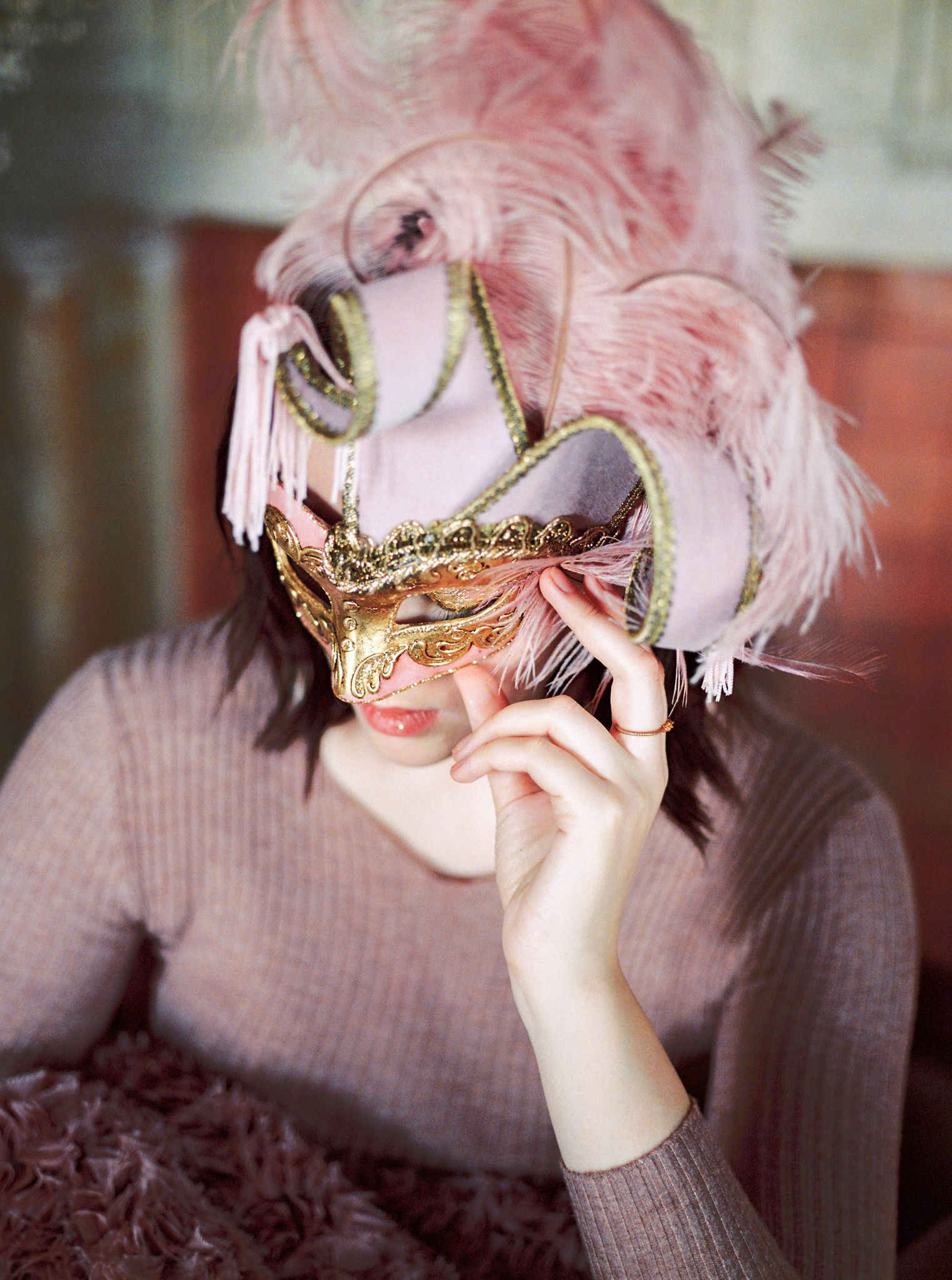 Venetian masks for a wedding party