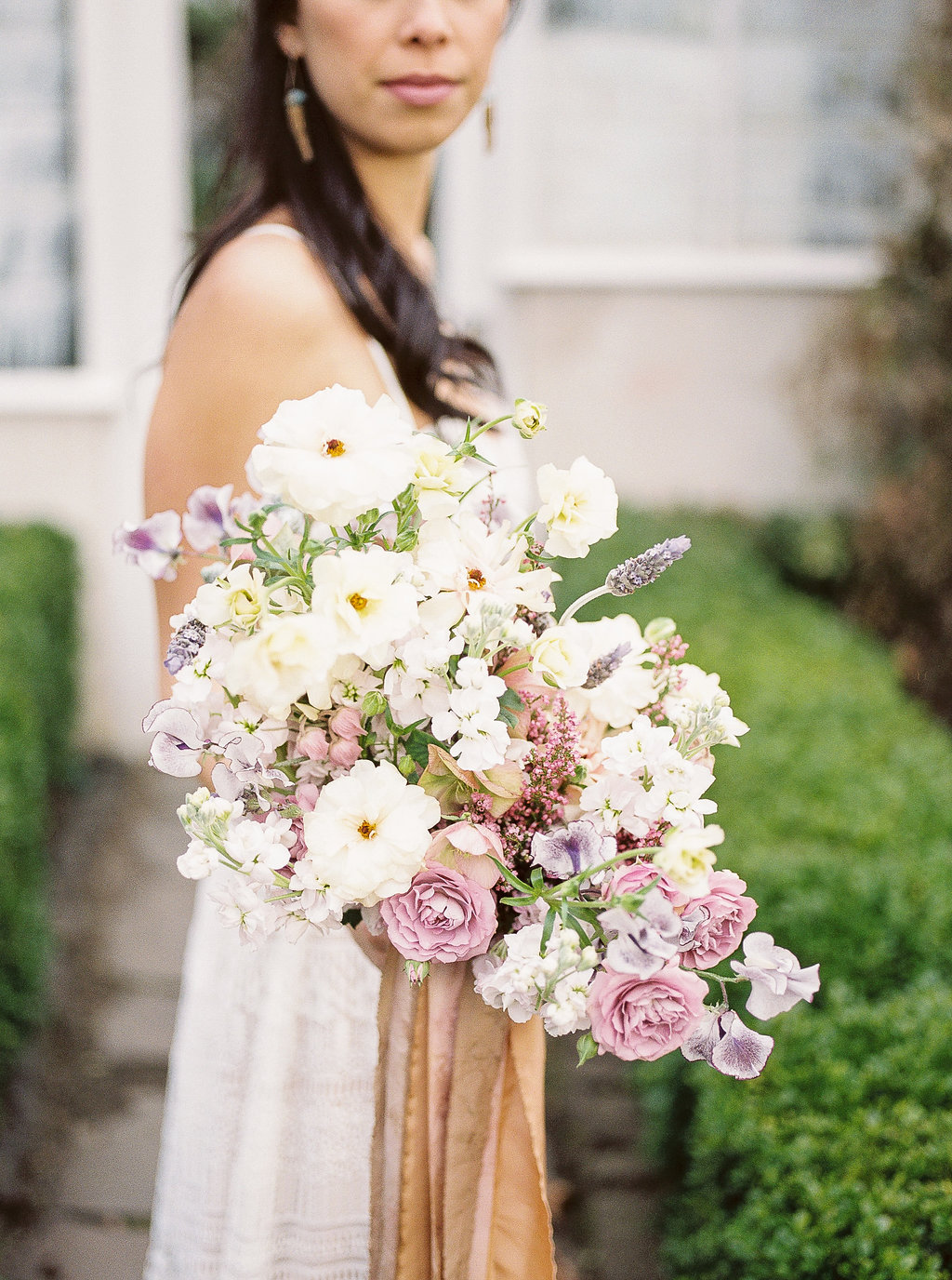 Ethereal Pink Wedding flowers with the bridal bouquet