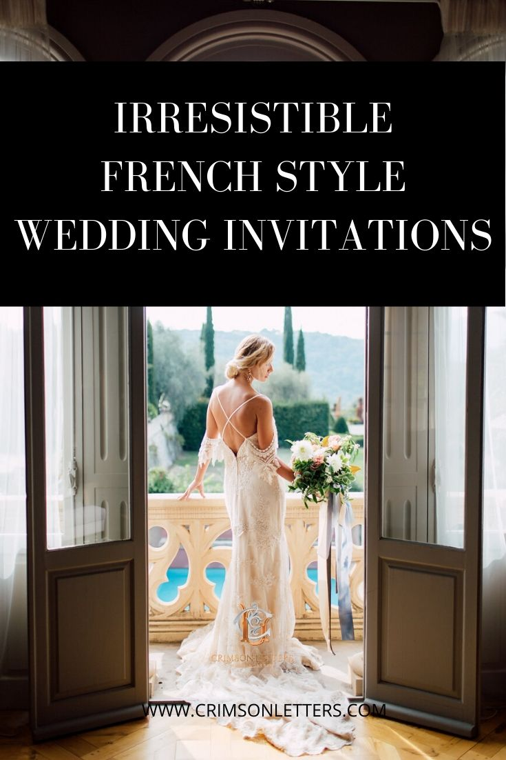 Irresistible French Style Wedding Invitations