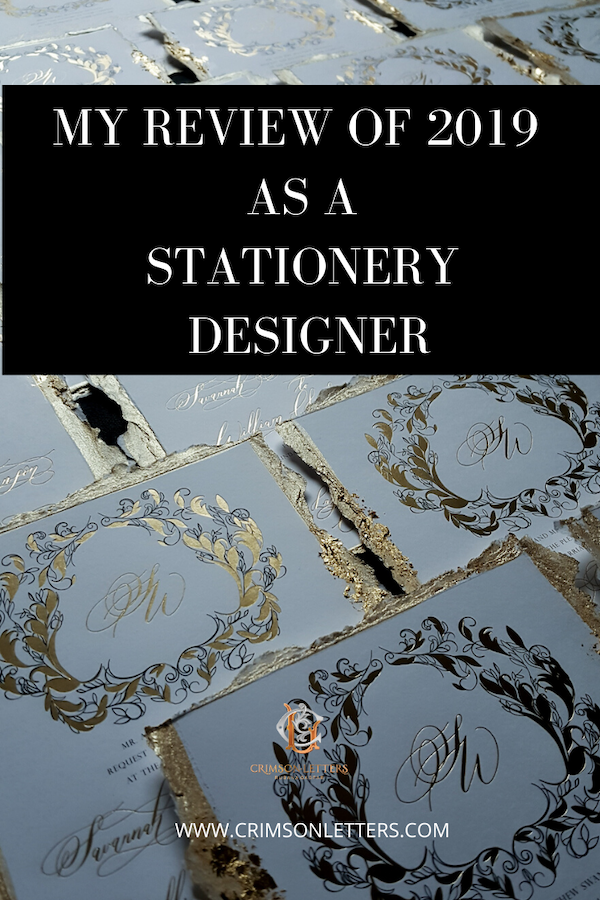 MY REVIEW OF 2019 AS A STATIONERY DESIGNER
