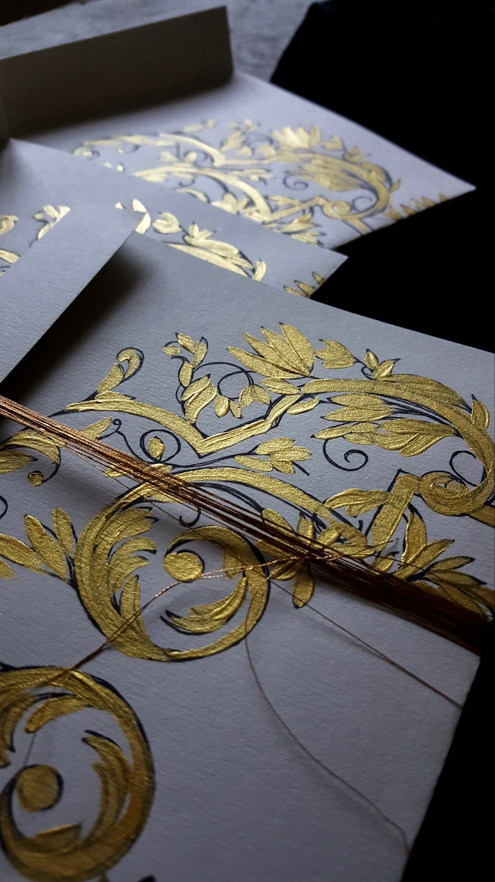Review of 2019 as a Stationery Designer with Luxury Wedding Stationery with Gold Hand Painted Details
