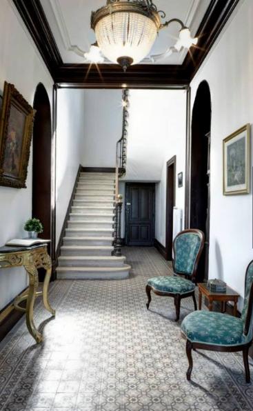Small French wedding venues hallway