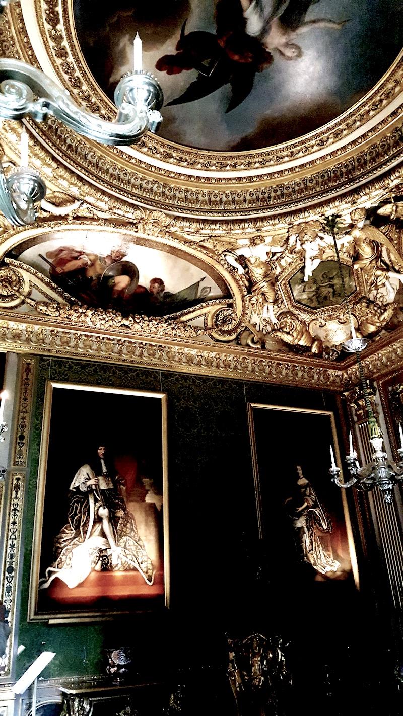 Wedding Locations in Paris Château de Vaux-le-Vicomte gold ceiling