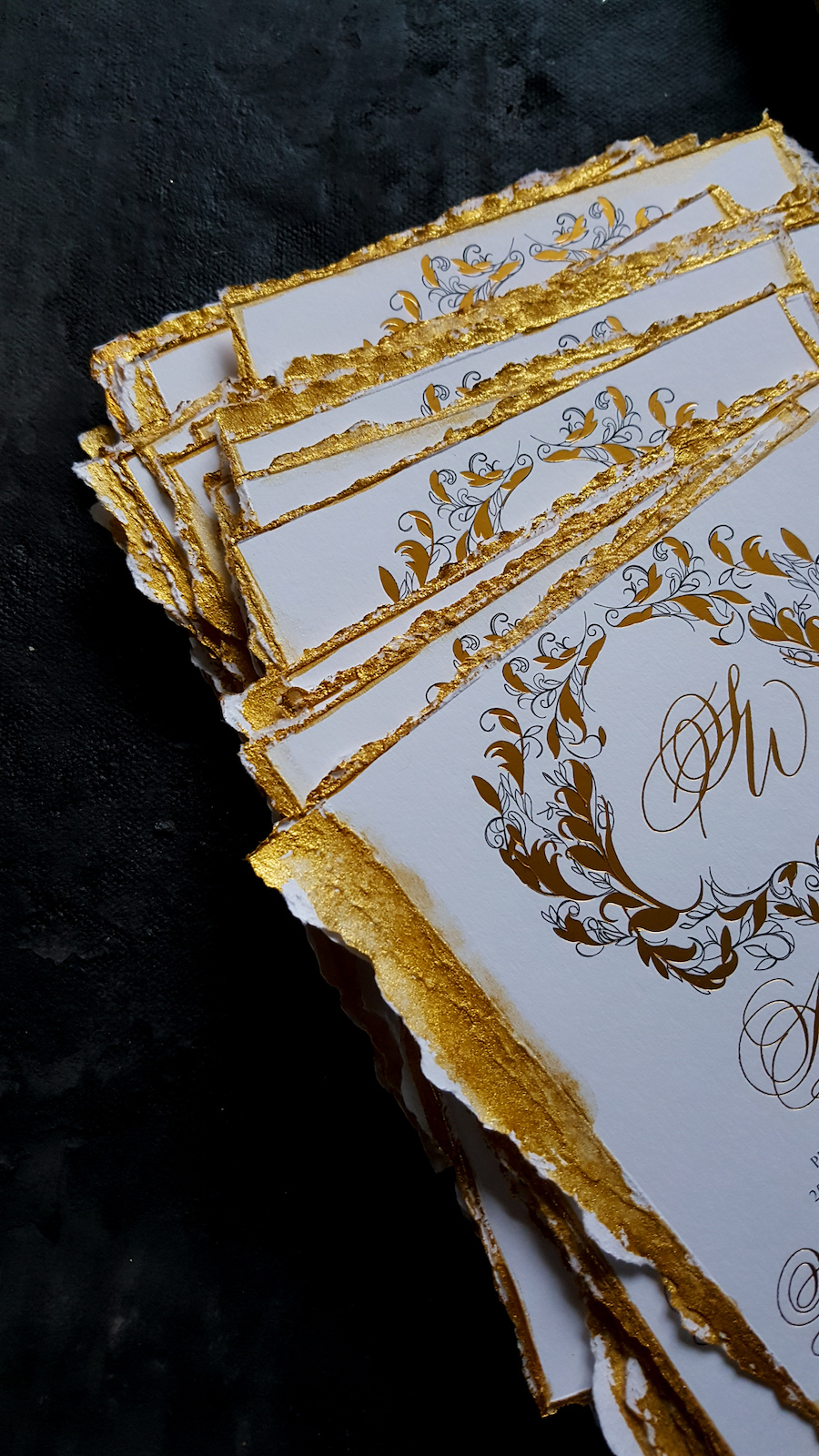 rsvp cards for a luxury wedding invitation suite for a Los Angeles wedding