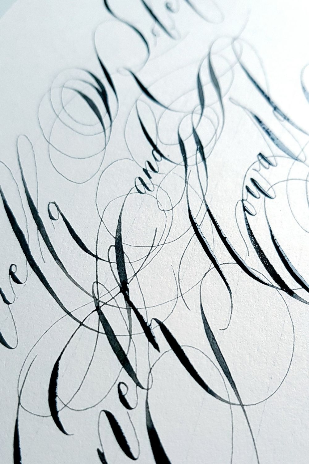 Wild editorial, modern calligraphy large flourishes