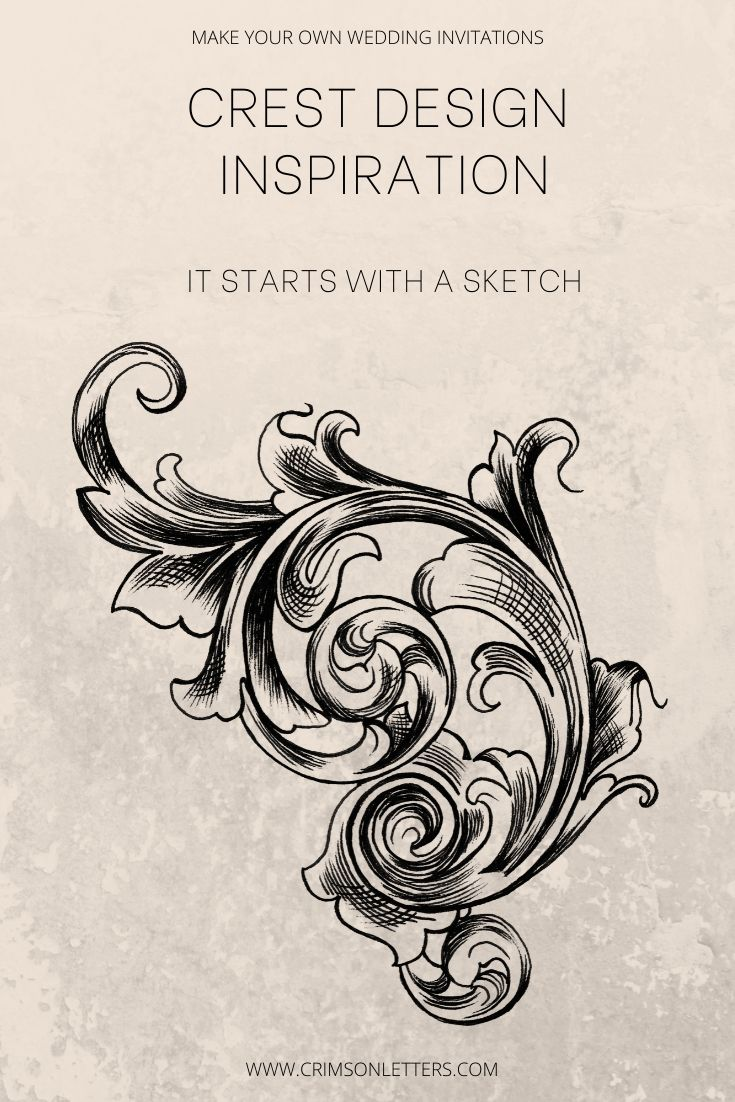 Crest Design inspiration to Make your own wedding invitations