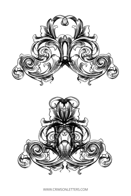 Crest design development for wedding invitations