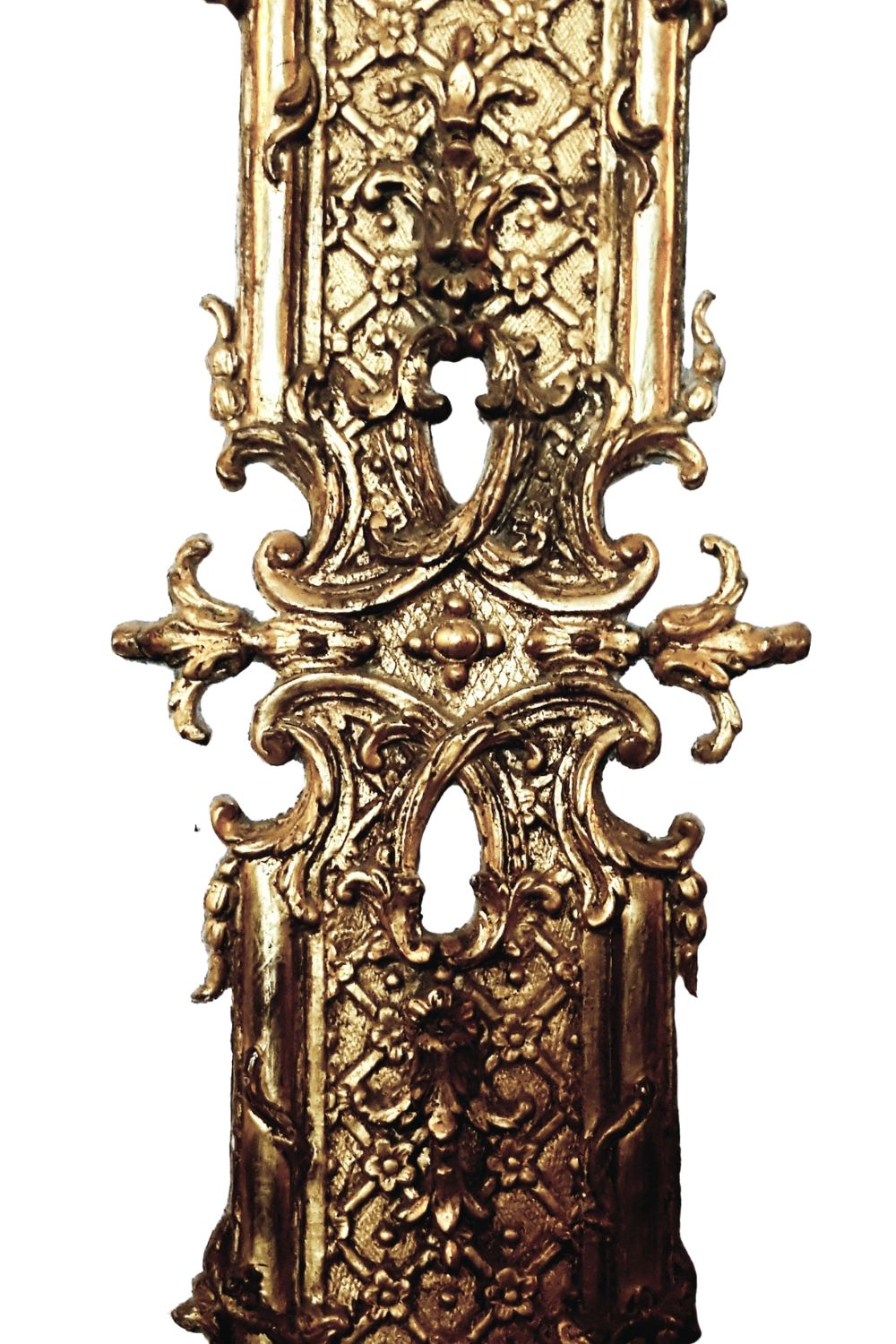 Close up detail of gold ornate moulding from a French Palace's interior