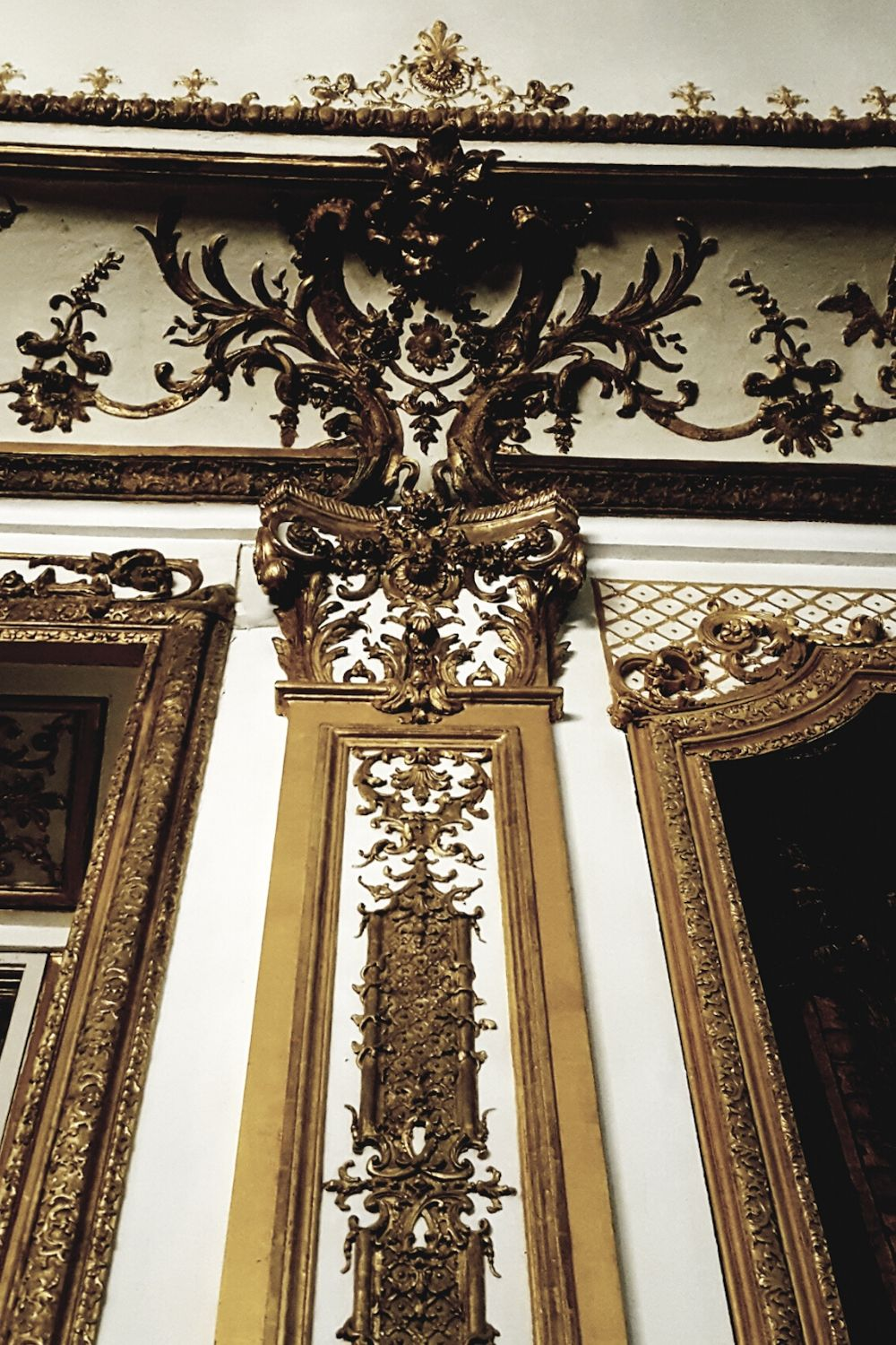 Gold moulding from a French palace interior