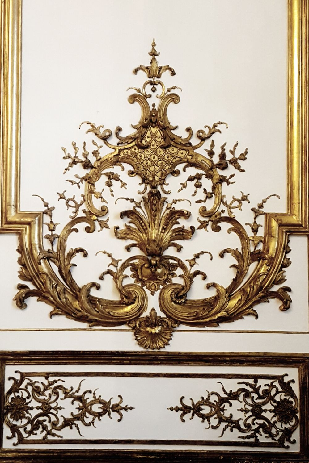 Gold ornate interior design from Chateau de Chantilly