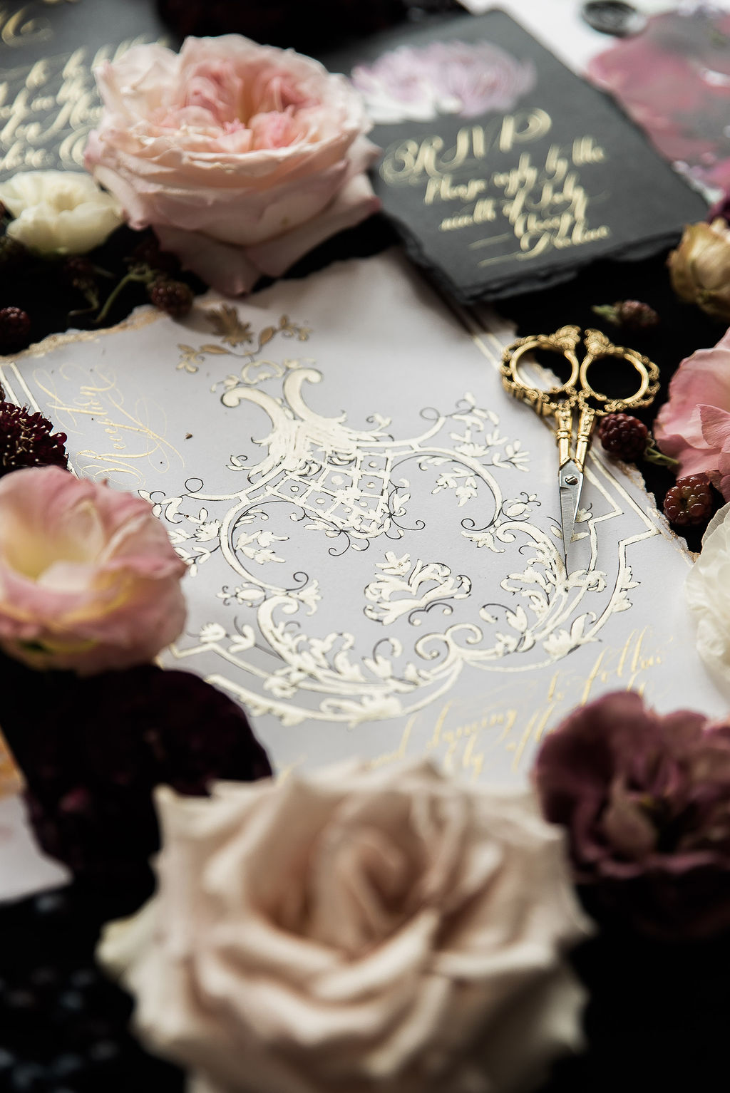 Wedding stationery inspired by French Style