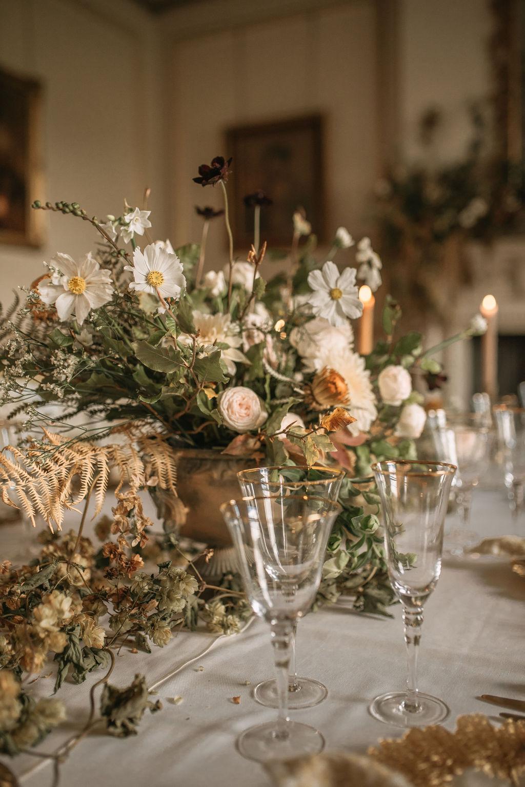 Dried Flowers Wedding Ideas For A Table Setting Floral Arrangement Crimson Letters