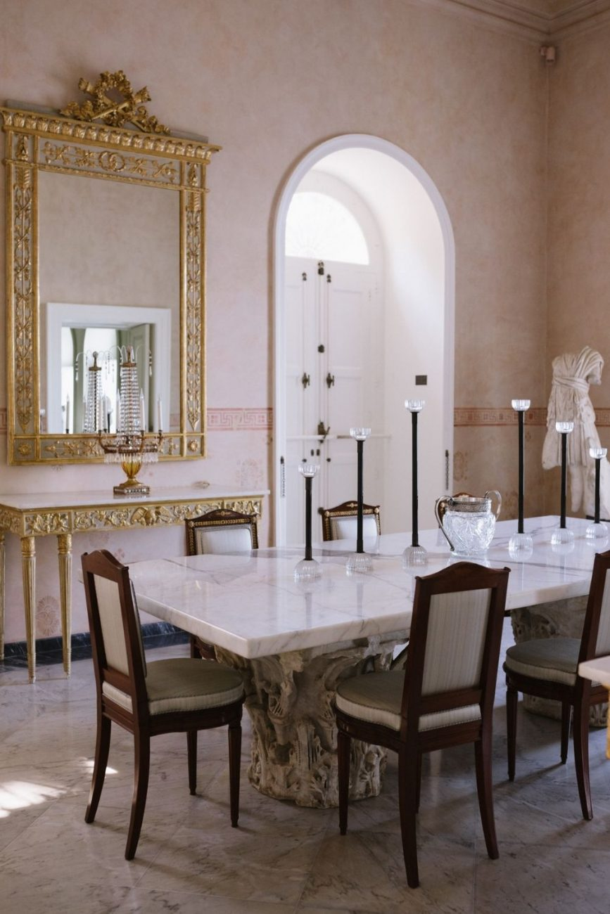 Villa Astor, featuring a sneak peak at the classical furnishings and interiors. Perfect inspiration for a small wedding in Italy
