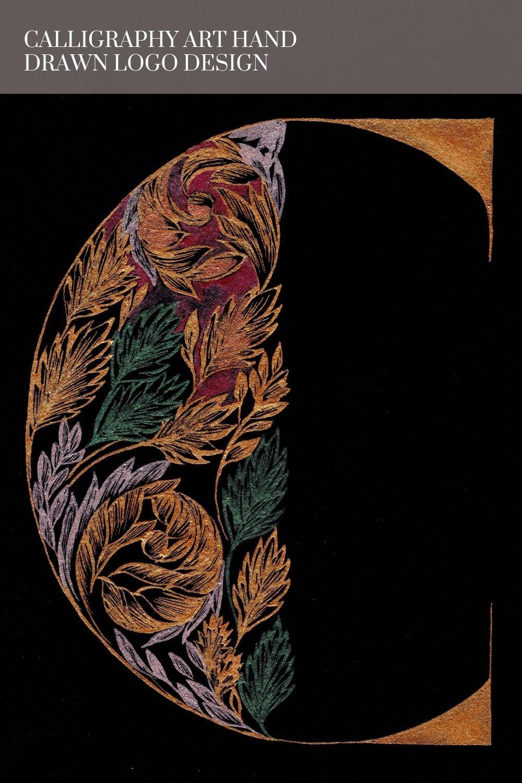 Calligraphy art hand drawn logo