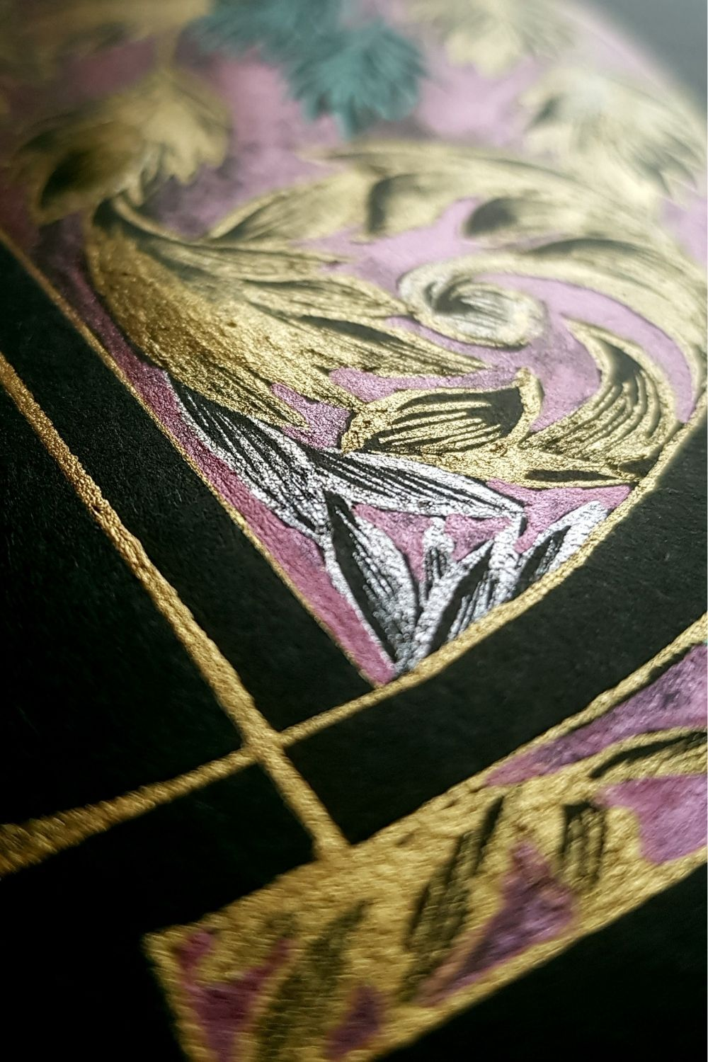 Luxury hand drawn logo design, inspired by a romantic baroque style design