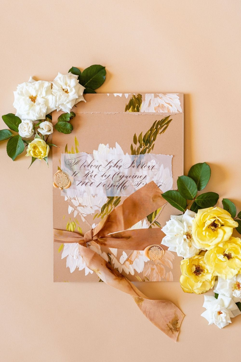 Timeless and classical, floral wedding stationery, custom designed for a luxury, floral wedding at Lake Como, Italy