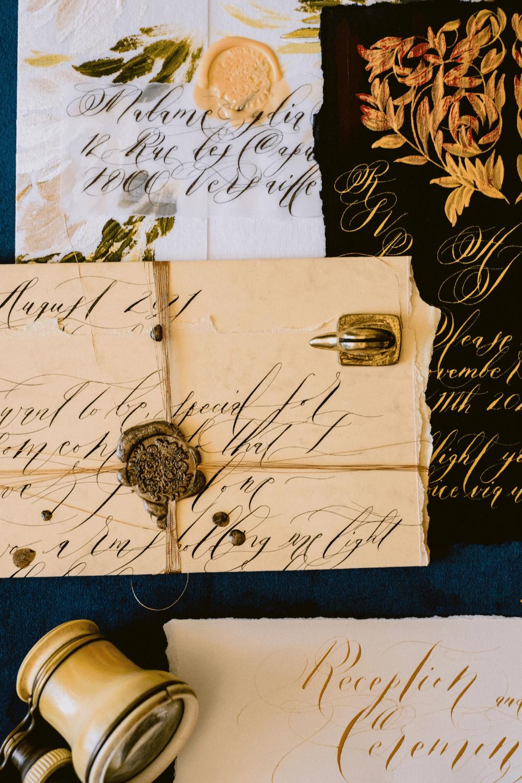 Unique and luxury handmade wedding invitations
