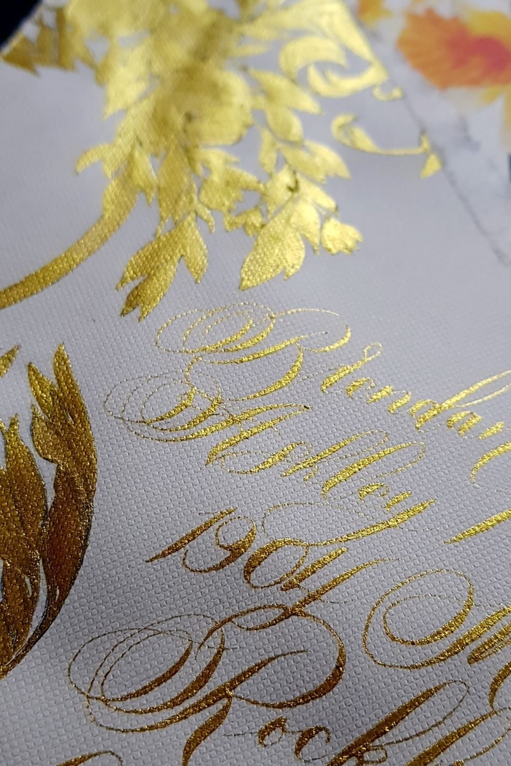 Ireland wedding invitations for a luxury country elopement featuring a beautiful dramatic crest design and gold calligraphy
