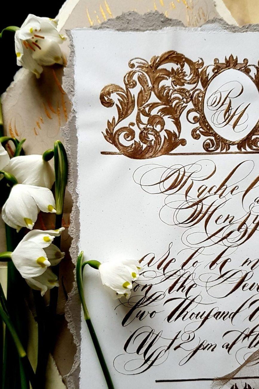 Artistic wedding invitations for a unique celebration