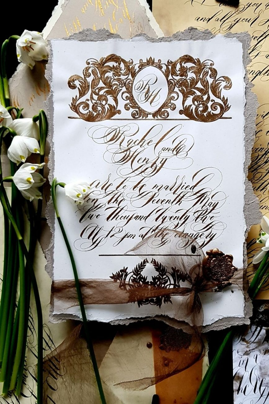 Evocative & Emotive - Artistic Invitation Cards for a luxury destination wedding